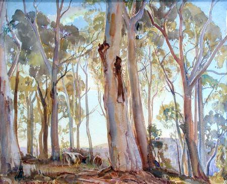8th October. Hans Heysen was a German-born Australian artist born on this day in 1877. http://brambleart.com/