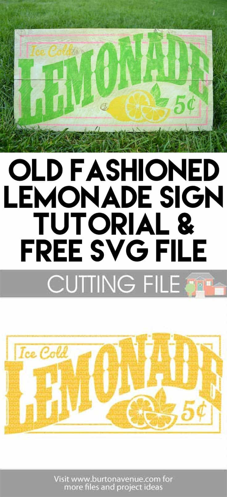 Free Lemonade cut file for Silhouette and Cricut -- Available for FREE until 7/28/17