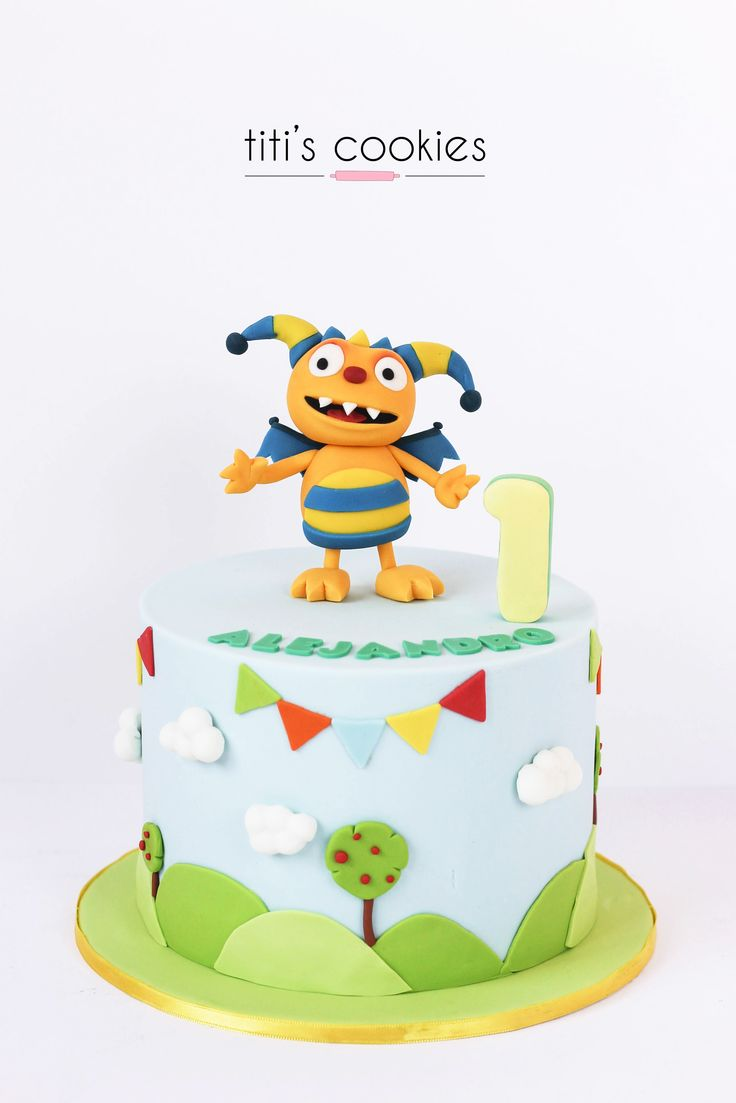 Tarta Henry el monstruo feliz - Henry hugglemonster Cake