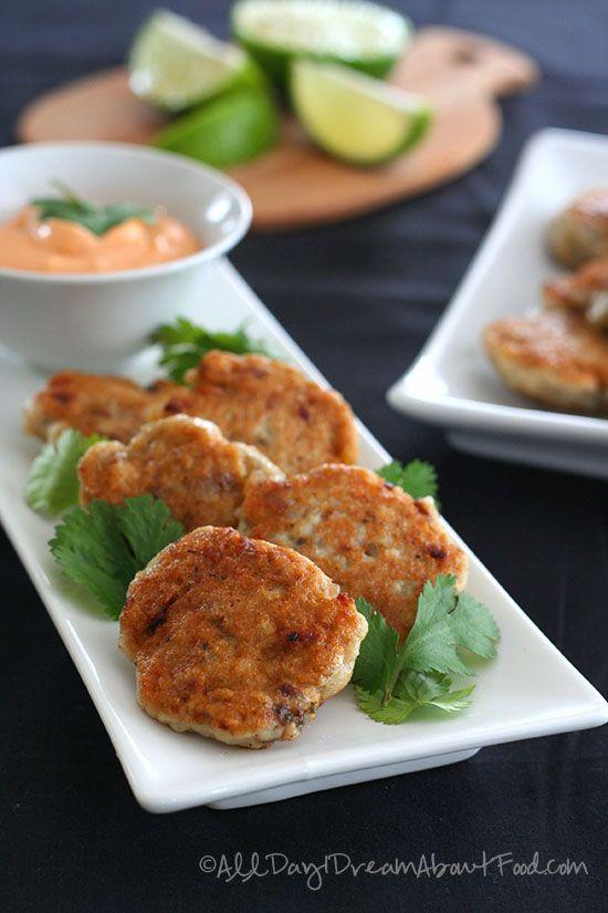 Thai fish cakes with spicy mayo recipe cilantro red for Thai fish cakes