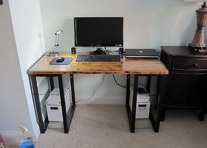17 best images about diy computer desk ideas on pinterest for Unique computer desk ideas