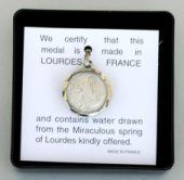 Apparition Pendant Contains Lourdes Water.