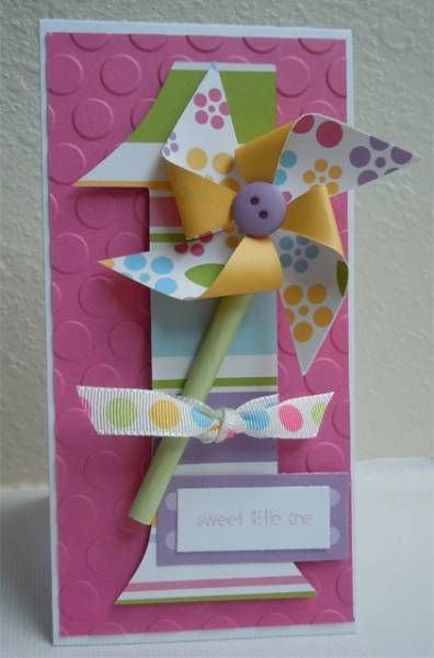 Girl First Birthday by stampgoddess1 - Cards and Paper Crafts at Splitcoaststampers