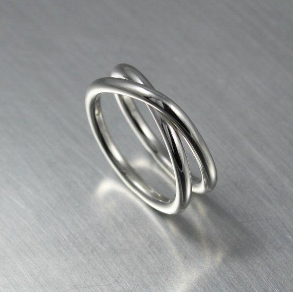 Eeuwigheid Ring minimalistische sieraden door JenniferWoodJewelry