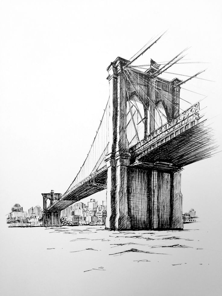 In this class, you'll learn how to draw Brooklyn Bridge, as part of the iconic New York cityscape with fine liner pens.