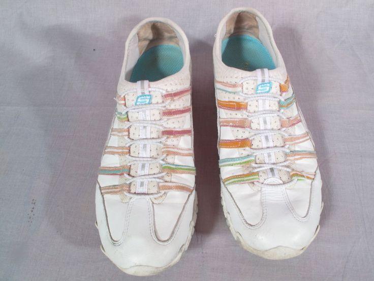 Women's Skechers Slip-on Shoes Multi-color Size 8 M Leather Fashion Low #SKECHERS #Slipon