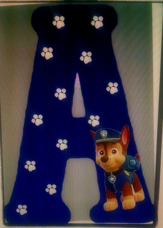 Paw Patrol Wood Letter/ Initial sign by MelsCraftRoom on Etsy