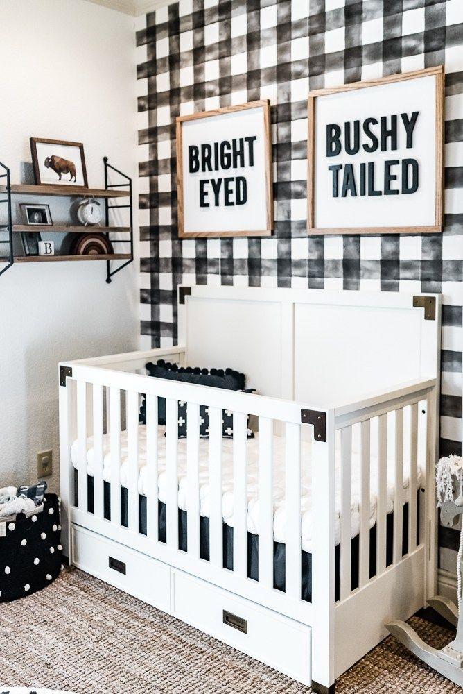 Brexton S Black And White Boho Farmhouse Nursery Baby
