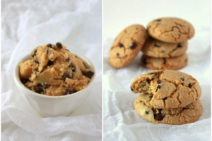 Μπισκότα με γέμιση από κομμάτια σοκολάτας – tselemedes.gr