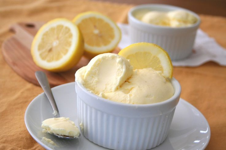 Low Carb Lemon Curd Ice Cream