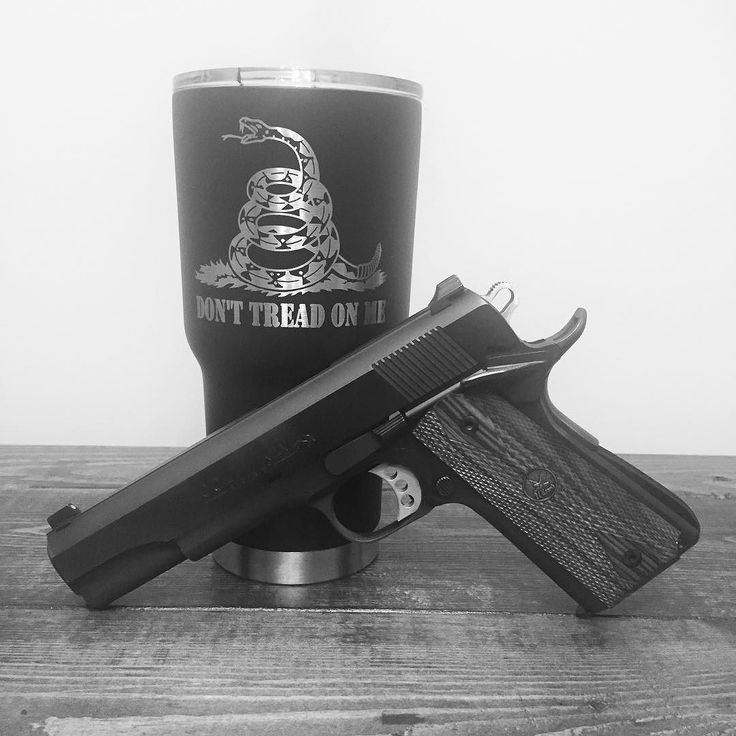 I've laser etched a bunch of the Gadsden Flag design on cups....figured I'd spice up the picture of this one with my colt. #twozerofivedesigns #merica #colt #1911 #donttreadonme #gadsdenflag #wilsoncombat #rtic #etched #engraving #yeti #ozark #pewpew #2ndamendment