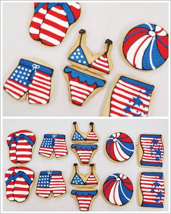 Fun Patriotic Cookies for the 4th of July
