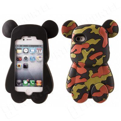 Etui, pokrowce, futerały Etui nakładki Etui nakładki 3D | Gumowe etui na iPhone 5S 5 kolorowy miś czarne | EKLIK - Sklep GSM, Akcesoria na tablet i telefon