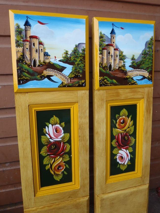Painted Cabin Doors (graining by John Sanderson)