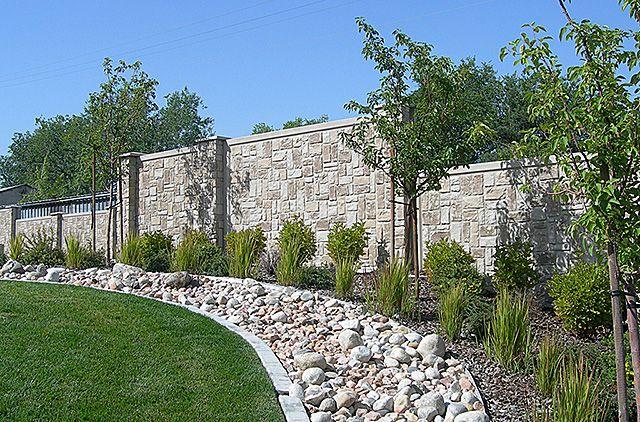 Fence concrete panels home design pinterest garden for Living wall fence panels