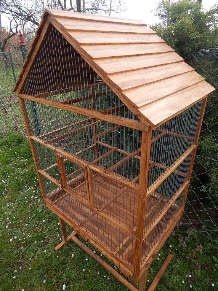Uccelli gabbia in legno fatti a mano
