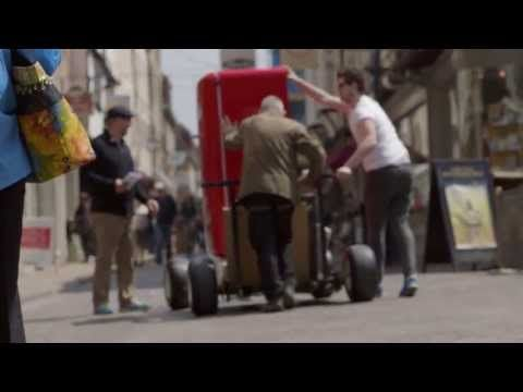 The company sent the beer fridge around Europe last year and documented its travels in this lovely video. | Canada's Olympic House Has A Beer Fridge That Only Opens With A Canadian Passport