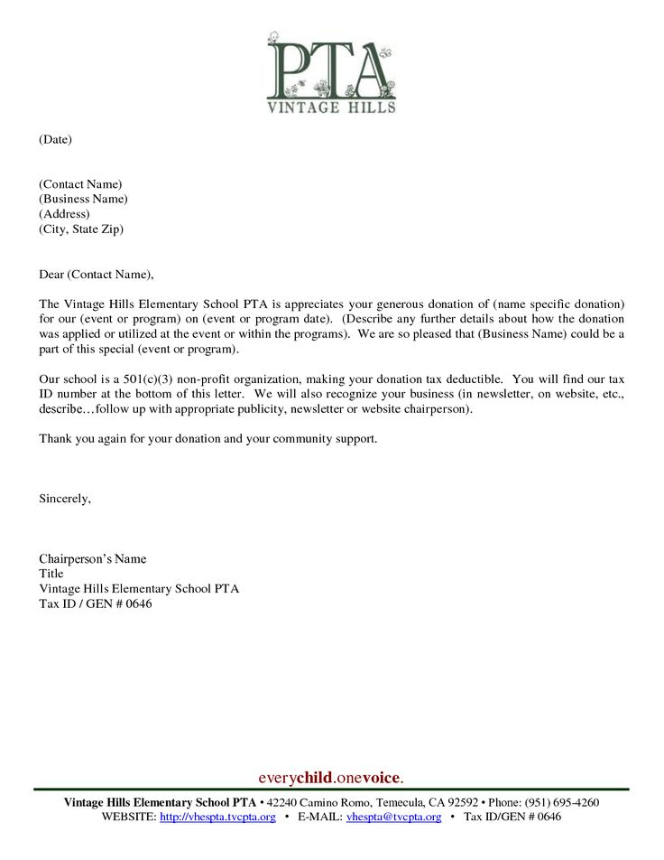 17 Best images about PTA Business letters on Pinterest ...