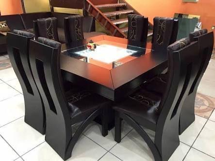 Resultado de imagen para comedor moderno de 8 sillas