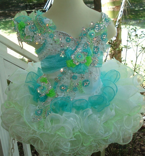 Ready to Ship National Glitz Pageant Dress by NanaMarieDesigns, $650.00