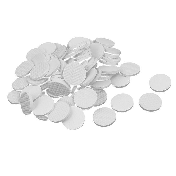 30mm Dia Rubber Self Adhesive Anti-Skid Furniture Protection Pads White 80pcs