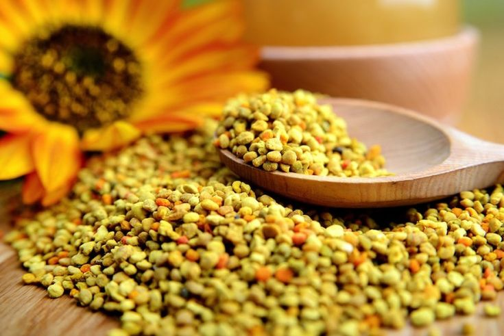 Polen de abeja, oligoelementos, vitaminas y para reforzar el sistema inmune.