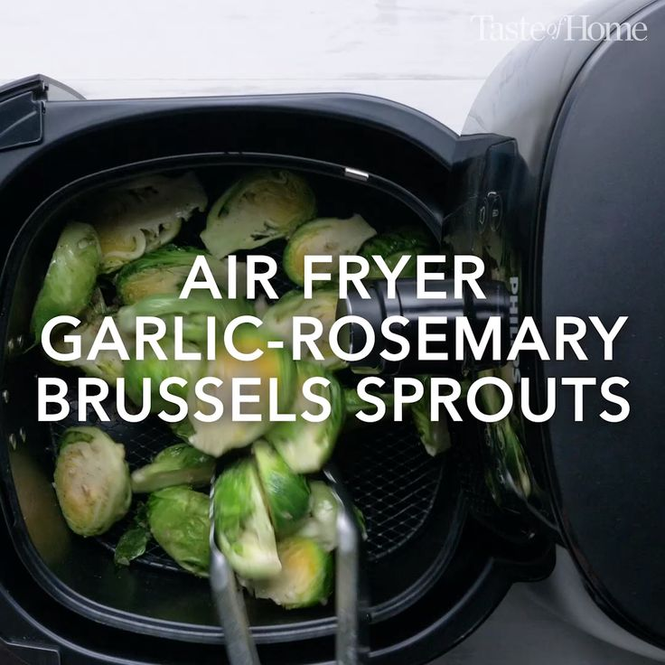 Air Fryer Garlic-Rosemary Brussels Sprouts Recipe