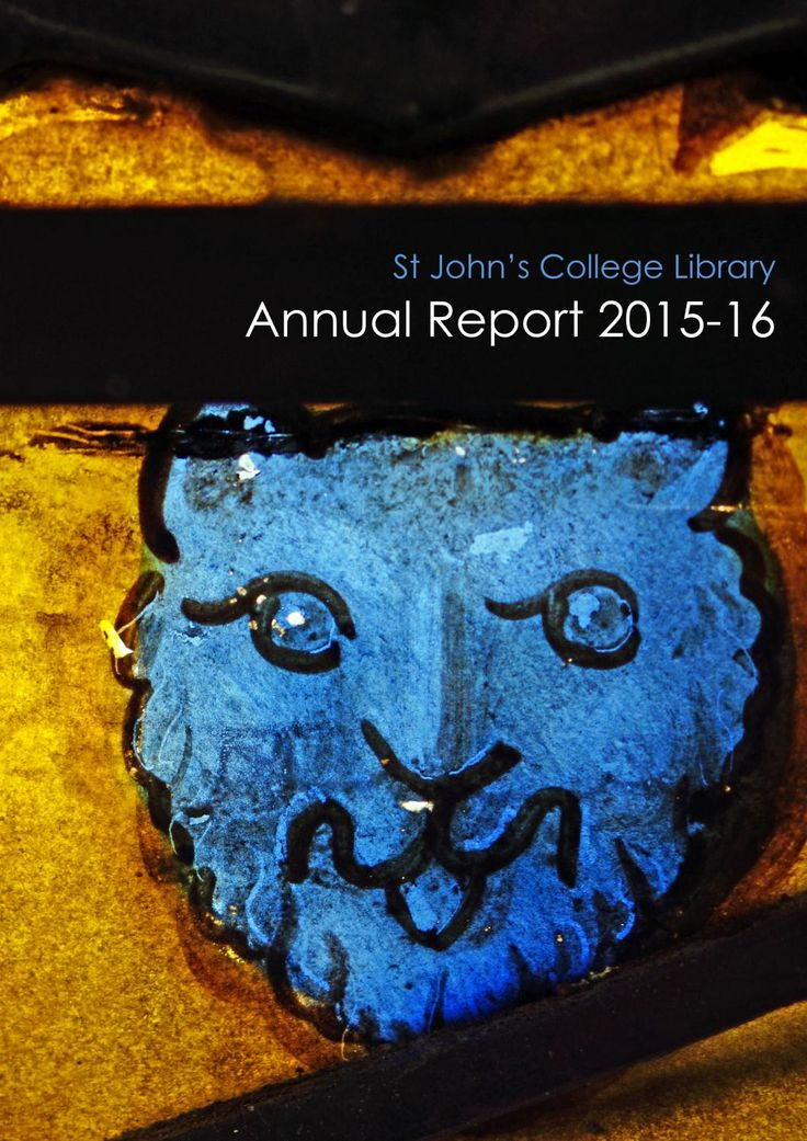 Library annual report 2015 16 This is a beautiful report on all the activities of a university library.  So many departments!  There is some quantitative data, but it is mostly narrative qualitative reports.