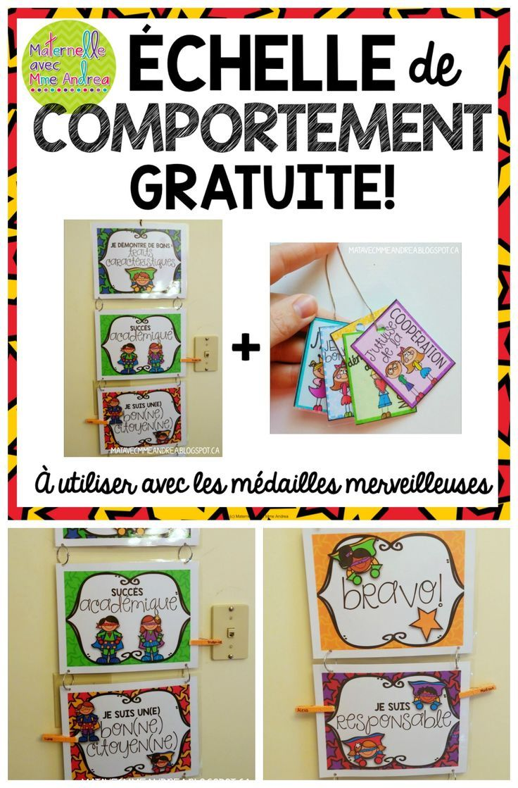 Maternelle avec Mme Andrea: A FREE (non-traditional) clip chart to use with…