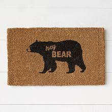 Coir Doormat - Hey Bear