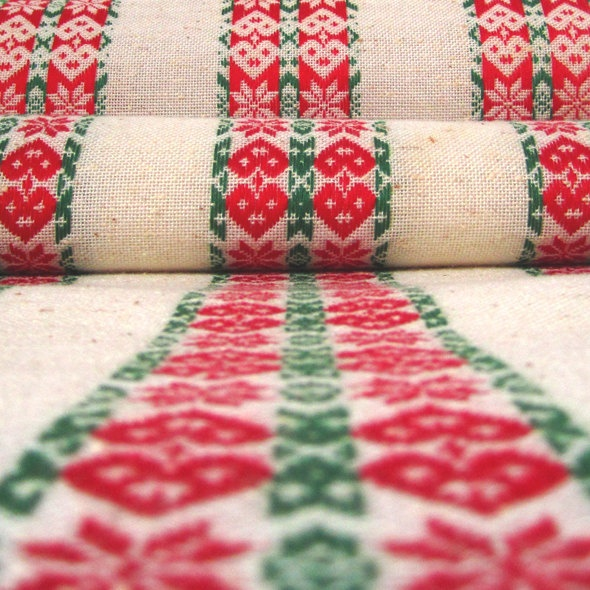 Long Scandinavian Linen Table Runner Hearts and by MidModMomStore. $35.00 USD, via Etsy.