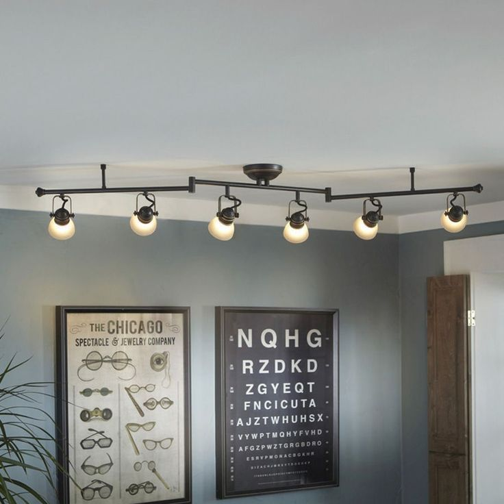 Shop allen + roth Tucana 6-Light Bronze Fixed Track Light Kit at Lowes.com