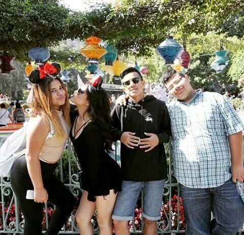 Becky G at Disney Land Yesterday with La Families #BeckyG #StephG #FrankieG #AlexG