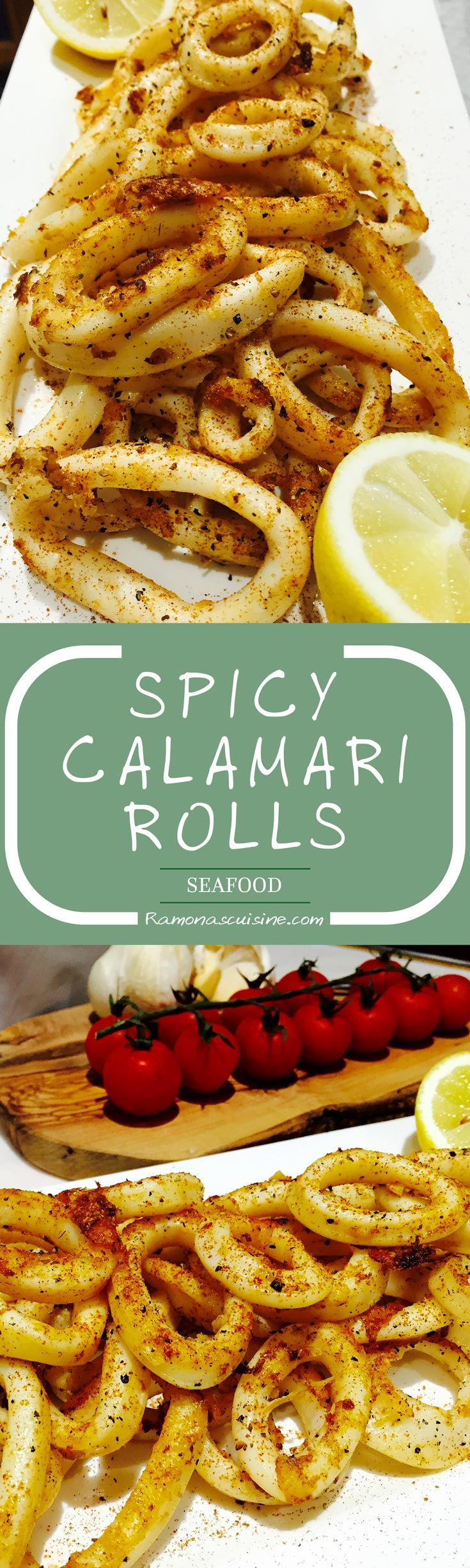 This calamari rolls appetizer is an easy to prepare, healthy starter dish, rich in vitamins, minerals and omega 3 oils.
