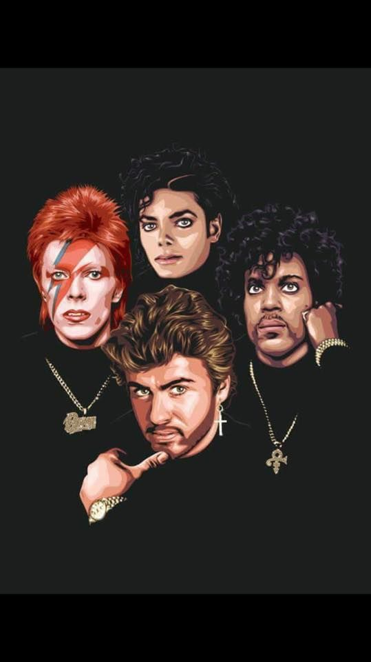 ~ David Bowie,  Michael Jackson, George Michael & Prince~