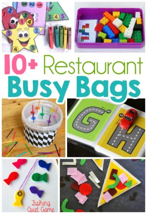 Restaurant Busy Bag Ideas For Toddlers
