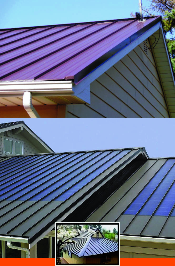 Metal Roof Colors For Brick Houses And Metal Roof Color For Yellow House Metal Roof Roof Design Roofing