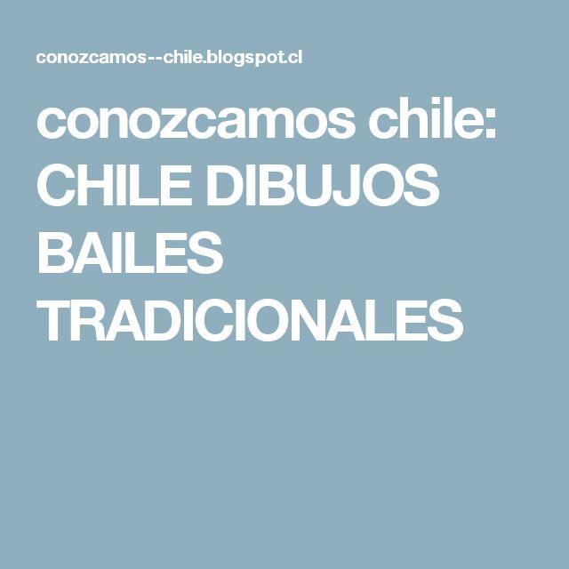 conozcamos chile: CHILE DIBUJOS BAILES TRADICIONALES