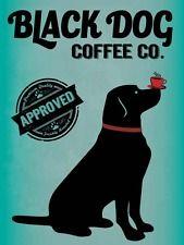 Black Dog Coffee Company Metal Sign, Kitchen, Café, Home Décor, Labrador