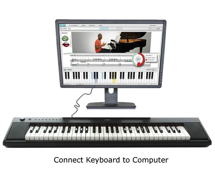 playground sessions digital piano connected to a computer with a usb cable homeschool. Black Bedroom Furniture Sets. Home Design Ideas