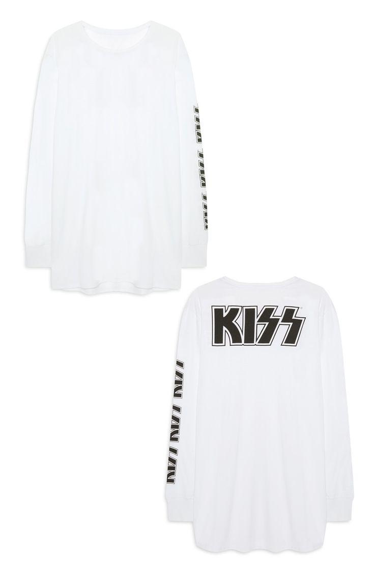 T-shirt met lange mouwen Kiss