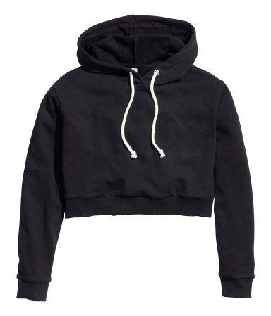 H&M Short Hooded Sweatshirt $17.95 cropped sweatshirt hoodie