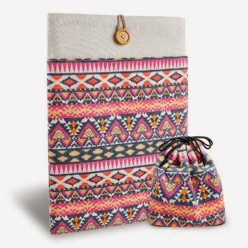 Ginae Says: Inateck Bohemian Canvas case bag for Macbook (Pink) MP1320