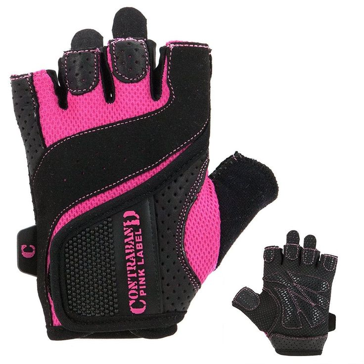 Contraband Pink Label 5137 Womens Weight Lifting Gloves w/ Grip-Lock Padding (PA #ContrabandPinkLabel