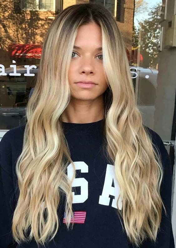 Blonde Hairstyles 201 Best Long Hairstyles 2018 Images On Pinterest