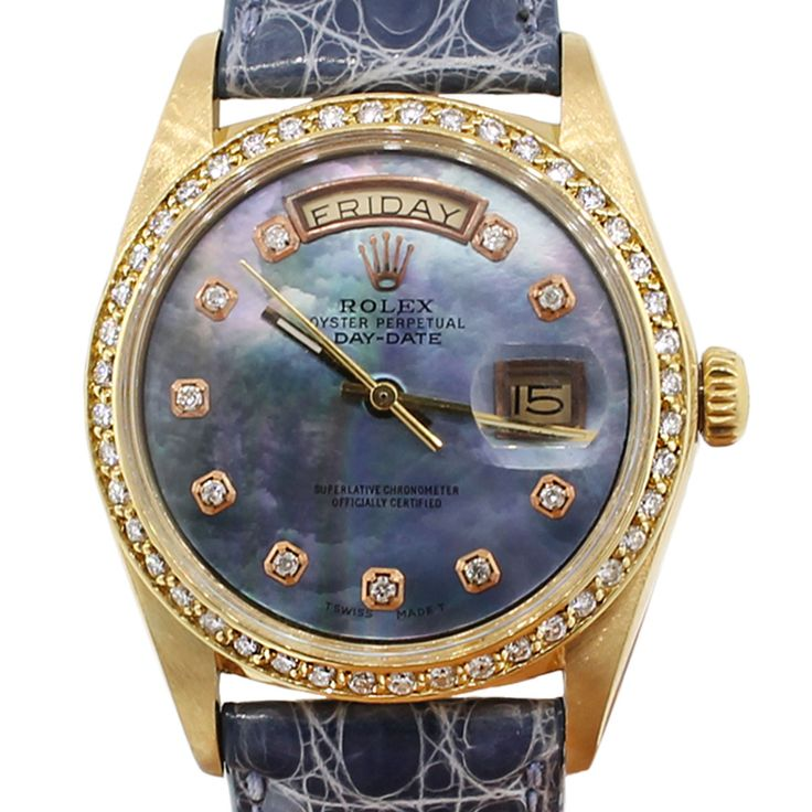Rolex 1803 Day-Date 18k Gold Mother of Pearl Diamond Watch