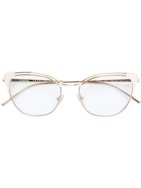 3107d816ebd Shop Prada Eyewear cat eye glasses