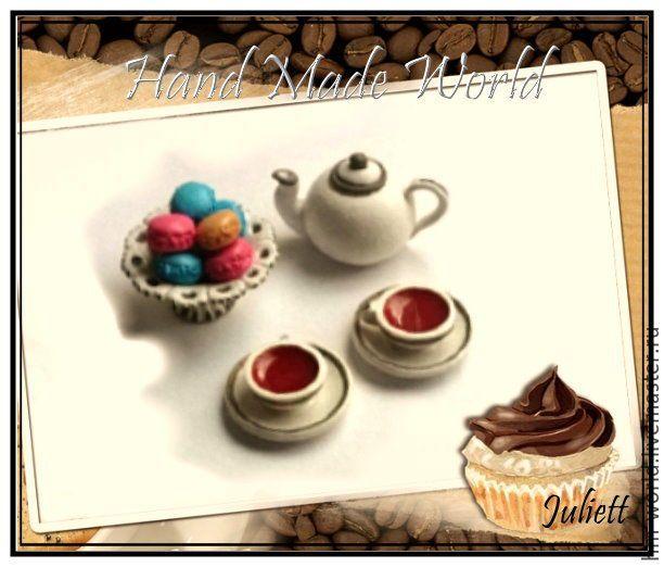 Купить Аксессуары для кукольного кафе из полимерной глины - коричневый, кукольная миниатюра, кукольный дом
