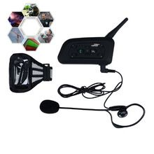 US $65.99 1200m occer Referee BT Intercom Interphone Headset Bluetooth Motorcycle Helmet Interphone Motocicleta Intercomunicador V6C. Aliexpress product