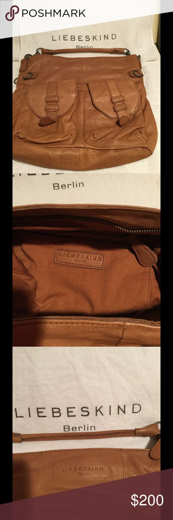 Authentic Berlin Liebskind leather purse !! Never used, just stored, comes with dust bag! Brown so soft leather and you can still smell the leather! Large tote size bag, great pocket space! Liebeskind Bags Shoulder Bags